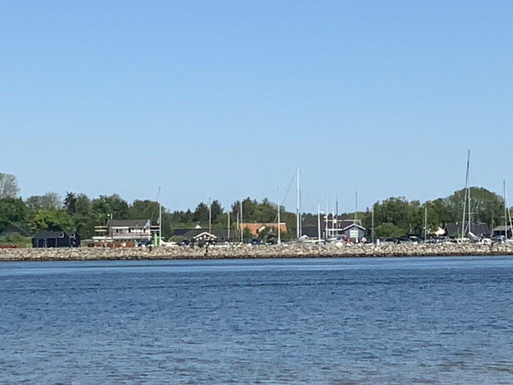 Udbyhøj Havn set fra Udbyhøj Syd